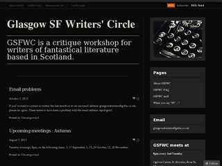 G S F W C  [Glasgow SF Writers Circle]